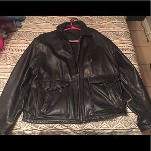 Men's X-large St.John bay leather jacket
